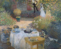 Luncheon Claude Monet Painting Print Canvas Giclee Reproduction Wall Art Small