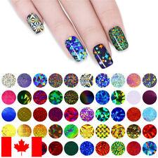50 sheets nail stickers - prismatic shimmer - hologram glitter foil