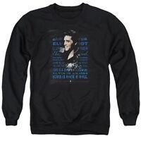 ELVIS PRESLEY ICON Licensed Adult Pullover Crewneck Sweatshirt SM-3XL