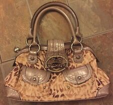 Kathy Van Zeeland small suede animal print handbag/purse