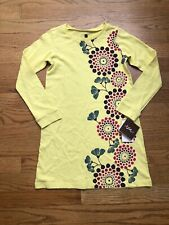 Tea Dress Yellow Long Sleeve Floral Girls Size 5 NWT