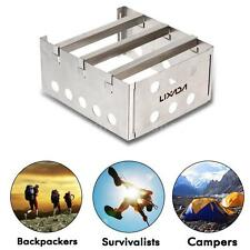 Portable Stainless Steel Wood Stove Solidified Alcohol Stove Picnic Camping W1C0