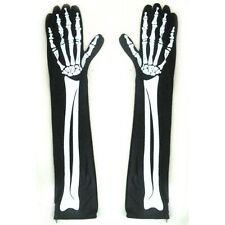 Skeleton Gloves Sexy Halloween Gloves Arms Hands Costume Women's Accessory 15""