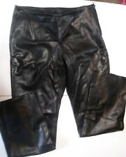 JIM & MARYLOU BLACK SOFT LEATHER PANTS SZ 14 MOTORCYCLE BIKE WEAR