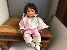 Gabriele Müller Porzellan Puppe 22 cm. Top Zustand