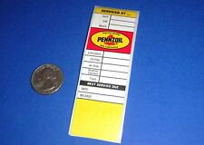 Vintage PENNZOIL Automobile Oil Change Door Jamb Sticker - Gas Station - Rat Rod