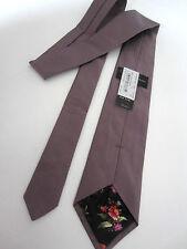 "Paul Smith MAUVE Tie ""BRITISH COLLECTION"" Classic Blade 9cm 58% Silk 42% Cotton"