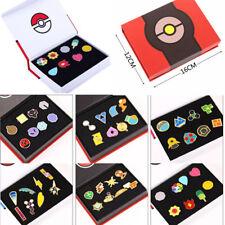 Pokemon Badges Kanto League Kalos Gym Pin Brooch Cosplay Collector Set Free Box