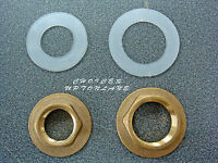 "BRASS FLANGED BACKNUT SIZES (1/2"" & 3/4"") BSP + FREE PLASTIC WASHER (BASIN/BATH)"