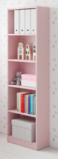iJoy 5 Tier Shelf Bookcase Childrens Bedroom Pastel Pale Pink Melamine