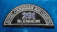 CANADA Royal Canadian Air Cadets BLENHEIM 291 squadron shoulder flash badge