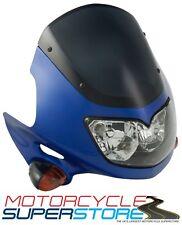 Universal Raptor 2 Motocicleta Streetfighter Faros Carenado Kit Azul