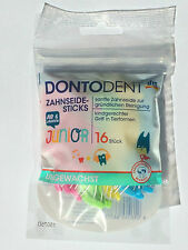 16 pck Dontodent Dental floss for children over 6 years. MAKE FLOSSING FUN