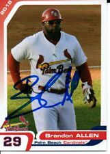 Brandon Allen 2018 Palm Beach Cardinals Autographed Signed Card
