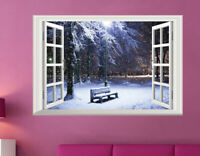Weihnachten Wandtattoo Schnee Winter Fensterbild Wandsticker Sticker Aufkleber