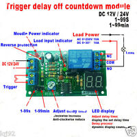 LED Display Countdown Timing Timer Delay Turn OFF Relay Switch Module DC 12V24V