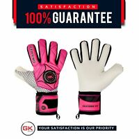 Football Goalkeeper Gloves Negative Cut GK Saver 3D Winner Pink size 6 to 11