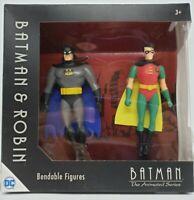 DC Comics BATMAN & ROBIN - Bendable Action Figures NJ Croce Animated Series