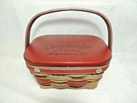 LONGABERGER 2011 Hagerstown Fall Festival Basket w Liner Protector Lid Tie-On