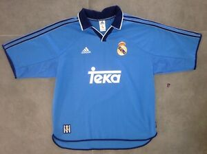 Rare Ancien Maillot Adidas Real Madrid Vintage T. XL Camiseta Zidane Espagne