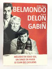 Jean Paul Belmondo Alain Delon Jean Gabin Coffret 3 DVD Neuf