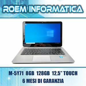 """HP ELITEBOOK FOLIO 1020 G1 M-5Y71 8 GB 128 GB 12,5"""" TOUCH WIN 10 GRADO A 6 MESI"""