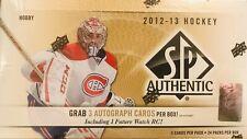2012 / 13 SP Authentic Hockey Hobby Box From Sealed Case  3 AUTOS  Per Box