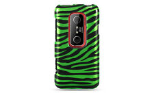 HTC EVO 3D SPRINT PCS GRAPHIC HARD CASE GREEN BLACK ZEBRA