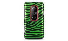 HTC EVO 3D SPRINT PCS GRAPHIC HARD CASE GREEN BLACK ZEBRA