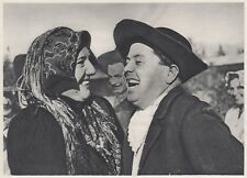 D7676 Quartier del Piave - Scena di festa - Stampa d'epoca - 1937 vintage print
