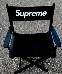 Supreme SS19 Director's Chair Black Wooden Foldable Chair 💎Free Shipping 🔥2019