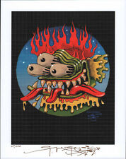 BEASTY 3 BY STANLEY MOUSE SIGNED AND NUMBERED BLOTTER ART PHOTO AND CERITFICATE