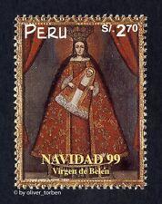 PERU 1723 ** WEIHNACHTEN Gemälde Heilige Jungfrau Maria Kunst CHRISTMAS Navidad