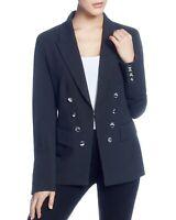 New $199 Catherine Malandrino Women's Blue Pinstriped Long-Sleeve Blazer Size S
