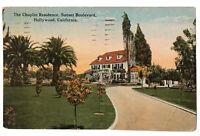 The Chaplin Residence, Sunset Boulevard, Hollywood, California CA Postcard 1923