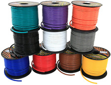 16 Gauge Copper Clad Aluminum Low Voltage Primary Wire 10 Color Comb 100 feet ft