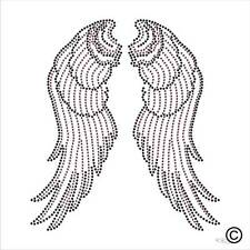 Wings Rhinestone Diamante Transfer Iron On Hotfix Gem Crystal Bling TShirt Motif
