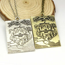 Hogwarts Marauders Map I Solemnly Swear That I Am Up To No Good Necklace