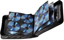 Hama 208 CD / DVD / Bluray Wallet Storage Carry Case Handle Nylon Black