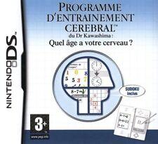 8257 // ENTRAINEMENT CEREBRAL QUEL AGE A VOTRE CERVEAU DS