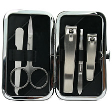 Rockwell Razors Men's Manicure Grooming Set! 5 Piece Nail Clipper Travel Barber