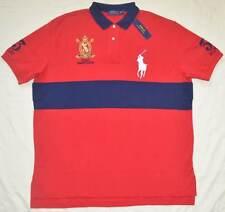 New 2XLT 2XL TALL POLO RALPH LAUREN Mens Big Pony rugby polo shirt red top 2XT