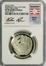 2014-S 50c Nolan Ryan Baseball Hall of Fame NGC (Proof) PF-70 UC Early Releases
