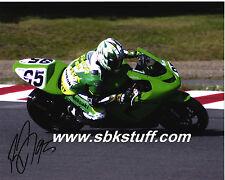 Roger Lee Hayden #95 Kawasaki Autographed A4 Photo P/P