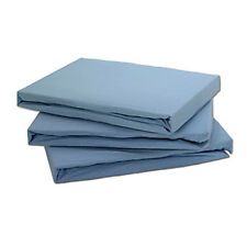 Tony's Textiles 100 Cotton Jersey Fitted Sheet Blue Single
