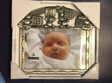 Baby Photograph Photo Picture Frame Blocks Teddy Bears Metal Pewter New in Box