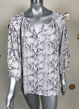 Soiree Woman Top Blouse Casual V Neck 3/4 Sleeve Multi-Color Plus Sz 1X