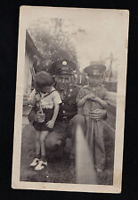 Antique Photograph Man in Uniform Cute Boys Saddle Shoes Policeman? Military?