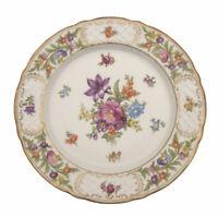 """Schumann Empress Dresden Flowers Dinner Plate Porcelain 10 7/8"""" Ref 3"""