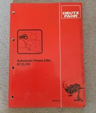 DEUTZ FAHR 07C & DX TRACTOR AUTOMATIC POWER LIFTS SERVICE TRAINING MANUAL